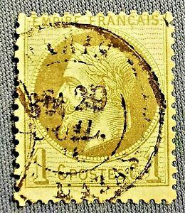 FRANCE : EMPIRE LAURE 1c N° 25 (TB-1177-1) OBLITERATION CaD -PARIS