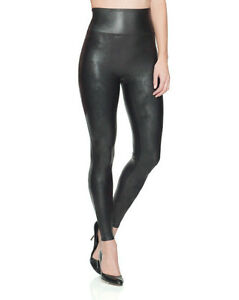 bbb2775cac4aa7 NWT SPANX FAUX LEATHER LEGGINGS PANTS Black # 2437 XS S M or L $98 ...