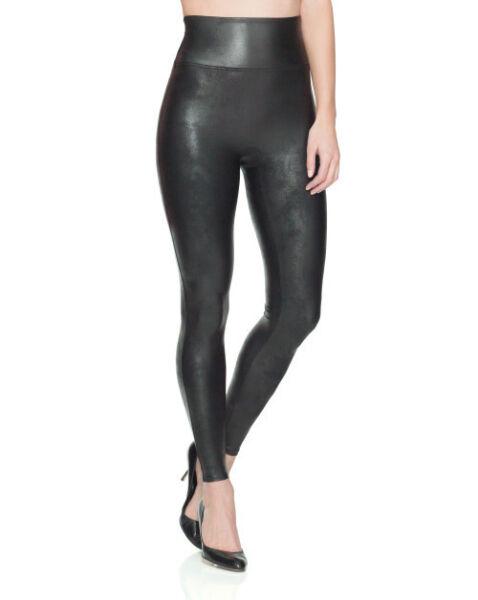 100% Vero Nuova Con Etichetta Spanx Pronta Da Wow Similpelle Pantaloni Leggings Stile Sii Amichevole In Uso