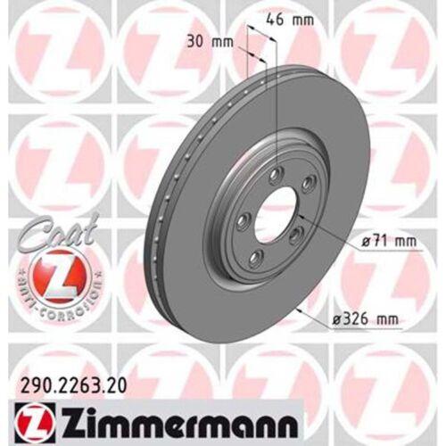 2 Zimmermann Bremsscheiben Jaguar S-Type XF XJ XK XF 326mm belüftet vorne
