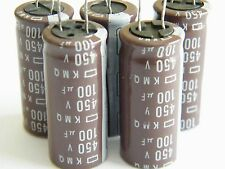 5 Pieces ELECTROLYTIC CAPACITORS 100uf 450v New US Seller Fast Shipping