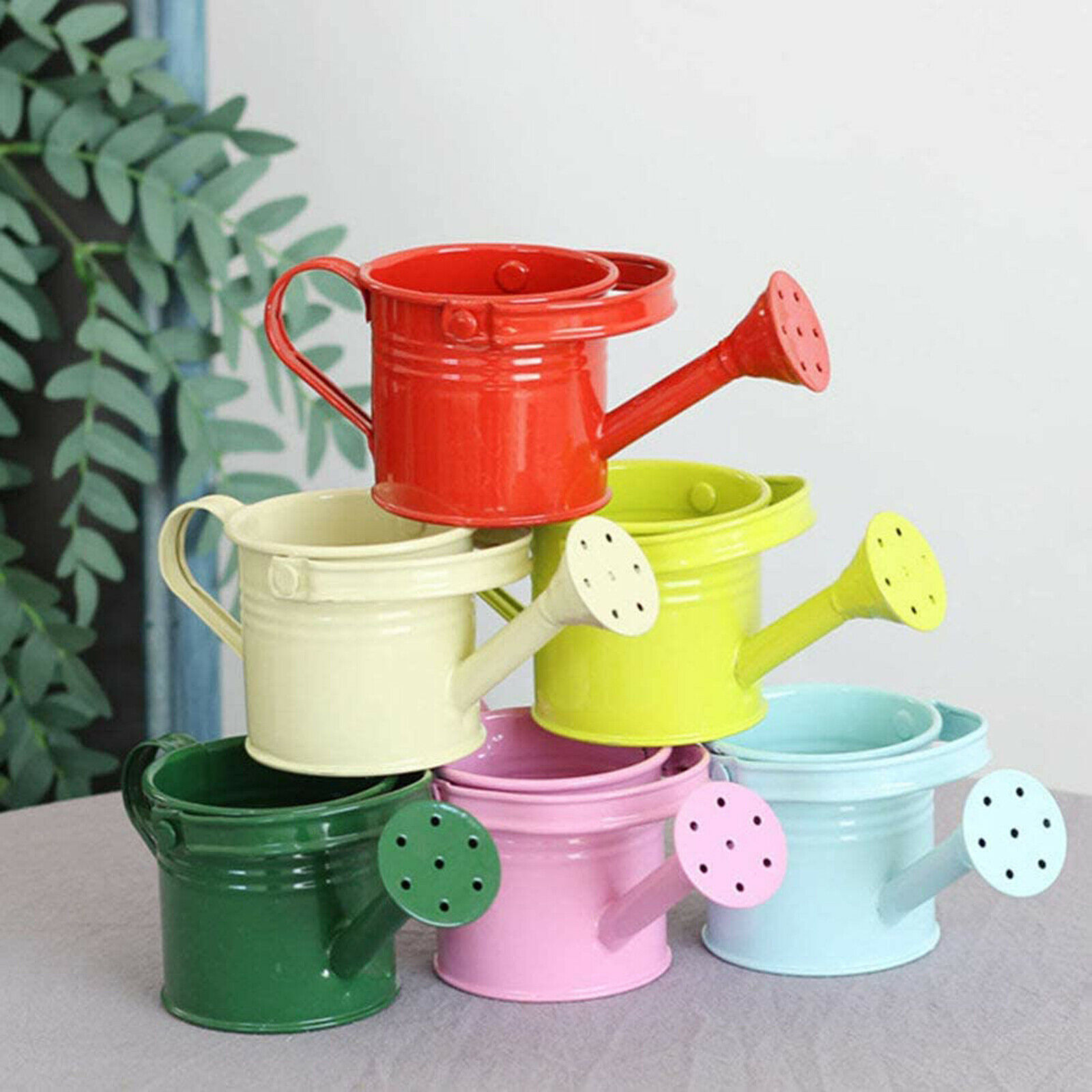 Garden Small Water Spraying Pot Flower Kettle Metal Watering Can Sprinkled Tool