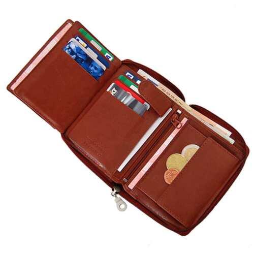 Cuir hommes porte-monnaie portefeuille Branco porte-monnaie avec fermeture à glissière bourse