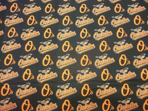 BALTIMORE ORIOLES   MLB  100/% COTTON 1 YARD  PIECE BRAND NEW ALL SPORT DESIGN