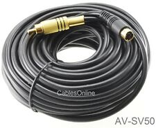50ft Universal S-Video 4-Pin miniDIN Male to RCA Male Video Cable - AV-SV50