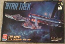 amt star trek uss enterprise ncc 1701 cut away model kit 8790 see