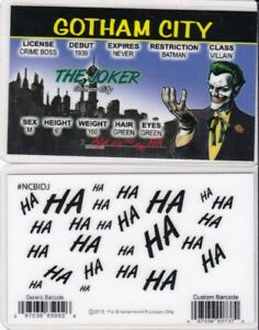 Gotham-City-Batman-Villain-THE-JOKER-Collectible-Drivers-License-fake-id-card