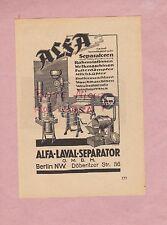 BERLIN, Werbung 1935, Alfa-Laval-Seperator GmbH Melkmaschinen