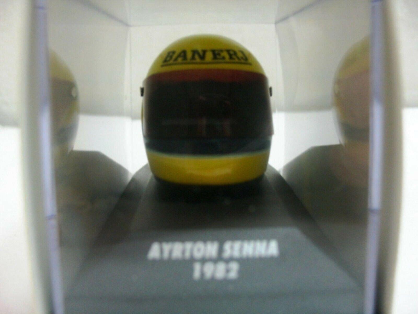 WOW EXTREMELY RARE Helmet Senna 1982 Arai Champion Formula F2000 1 8 Minichamps