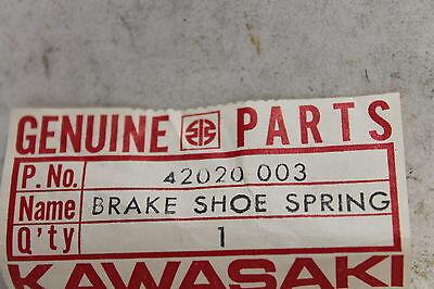 NOS OEM 42020-003 SPRING BRAKE SHOE 1966-1976 W1 H1 W2 KAWASAKI KB39