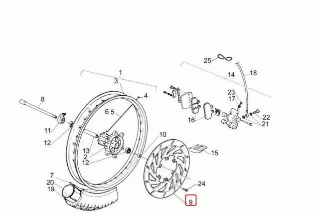 aprilia pegaso 650 strada-trail front brake disc disco freno anteriore  ap8113485