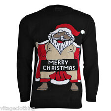 Adults Large Manchester United Santa Knitted Christmas Jumper