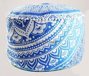 24-034-Ombre-Mandala-Round-Ottoman-Pouf-Cover-Bohemian-Indian-Decor-poof-Footstools