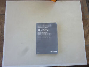 Owner-039-s-Manual-for-Casio-Graphic-Calculator-Power-Graphic-FX-7400G