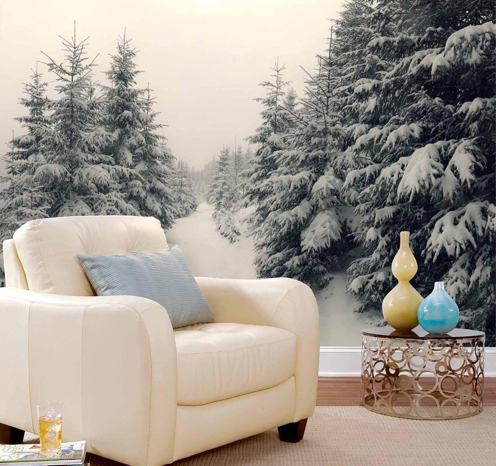 3D Winter Pinien Schnee 8549 Tapete Wandgemälde Tapeten Bild Familie DE Lemon | Beliebte Empfehlung  | Won hoch geschätzt und weithin vertraut im in- und Ausland vertraut  | Zu verkaufen