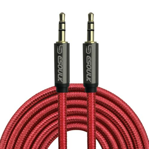 Aux Cable 3.5mm Male to Male Auxiliary Audio Nylon Braided Cord for Car PC Phone