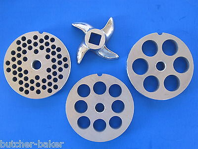 """#12 x 3//8/"""" holes STAINLESS Meat Grinder Mincer plate disc screen Hobart 4812 etc"""