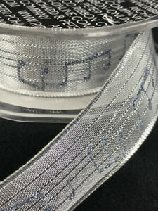 Silver-French-Wired-Music-Note-Ribbon-9-Yards-1-034-Wide-Crafts-Bows-Wedding