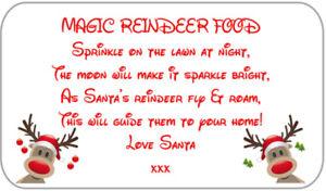 63 Magic Reindeer Food Stickers Labels School Christmas Fund