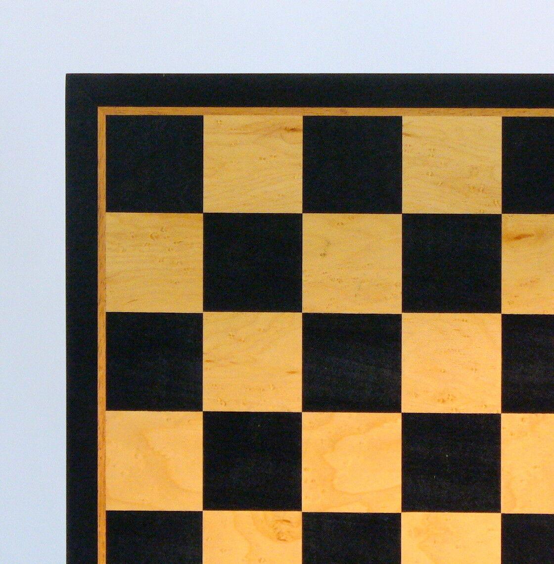 CHESSBOARD - 21  - 2¼  SQ's - BIRDSEYE MAPLE INLAID WOOD (ww 55520bbm)