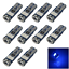 10x Blue Auto T10 W5W Turn Signal Light Wedge Lamp Error Free 15 3014 SMD LED Z2
