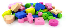 60 pc Colored Foam Beads Bird Toy Parrot Parts Craft Charms Chewy