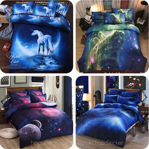3D-Galaxy-Bedding-Pillowcase-Quilt-Duvet-Cover-Set-Or-Flat-Single-Double-Size