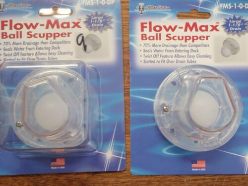 SCUPPER SELF BAILING FMS10DP PAIR TH MARINE FLOW MAX BALL SCUPPER  HARDWARE BOAT