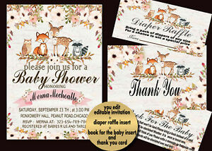 photograph regarding Free Printable Woodland Baby Shower Invitations titled Data in excess of cost-free transport printable,child shower invitation,woodland pets ,drinking water shade