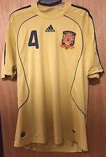 Camiseta Selección Española Eurocopa 2008 Visitante Carlos Marchena