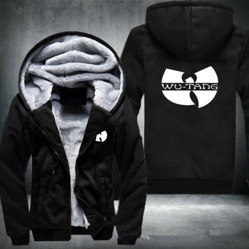 WU-TANG Print Thicken Coat Unisex Winter Hoodie Zipper Jacket Fleece Sweatshirt