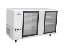 New 69 Back Bar Cooler Swing Glass Door Refrigerator Nsf Atosa Mbb69g Gr 8817
