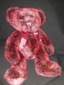 Russ-Berrie-amp-Co-Romanoff-Burgundy-Teddy-Bear-Plush-Stuffed-Animal-Toy-10-034