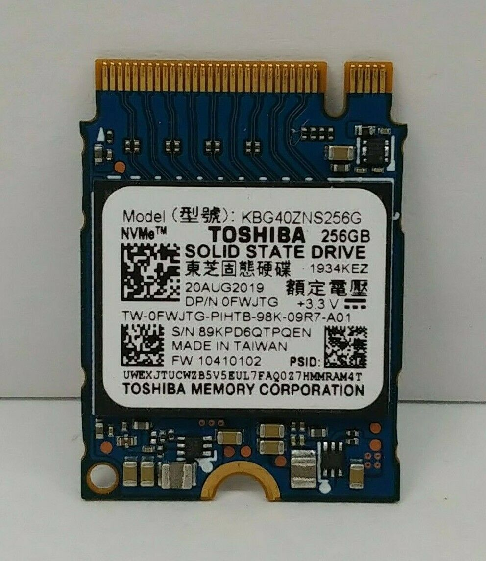 256GB Toshiba NVMe M.2 2230 SSD PCIe Solid State Drive. Buy it now for 39.99