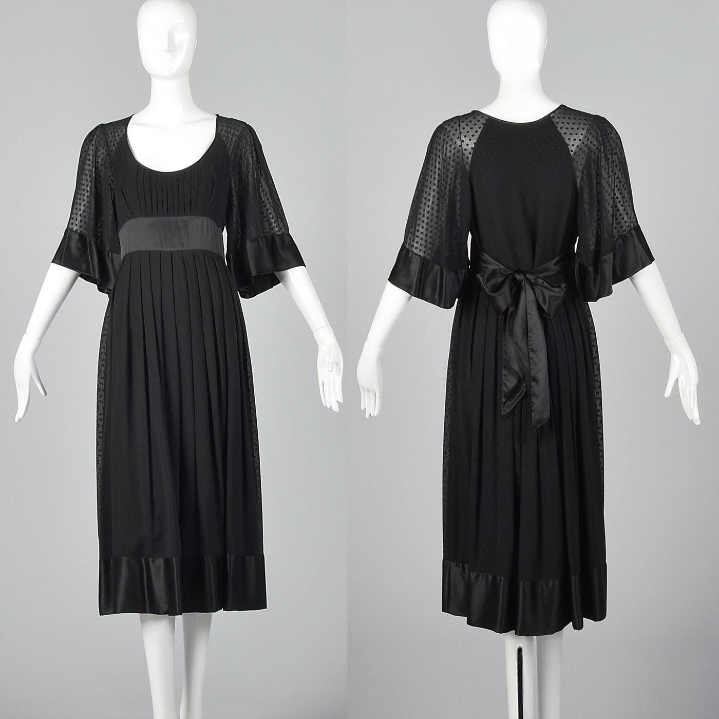 Vestido de Seda Vintage Catherine Malandrino Negro Cóctel noche  Wear Classic Vintage  ventas en linea