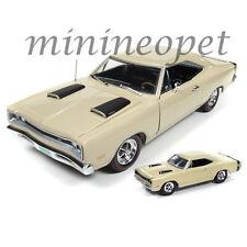 AUTOWORLD AMM1094 1969 69 DODGE CORONET SUPER BEE 1/18 & 1/64 2 CARS SET CREAM
