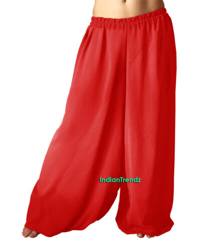 Harem Yoga Pant Belly Dance Pantaloons Trousers Baggy Hippy Aladdin Halloween