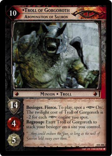 LoTR TCG Siege of Gondor Troll Of Gorgoroth Abomination Of Sauron FOIL 8R108