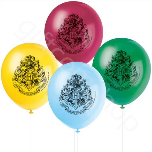 Harry Potter Fiesta Globos Látex Helio suministros Decoraciones De Cumpleaños Infantil X 8
