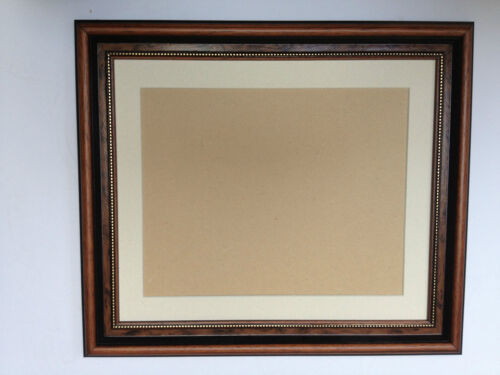 BUY DRECT 36mm WALNUT AND GOLD PICTURE FRAMES WITH PICTURE MOUNTS