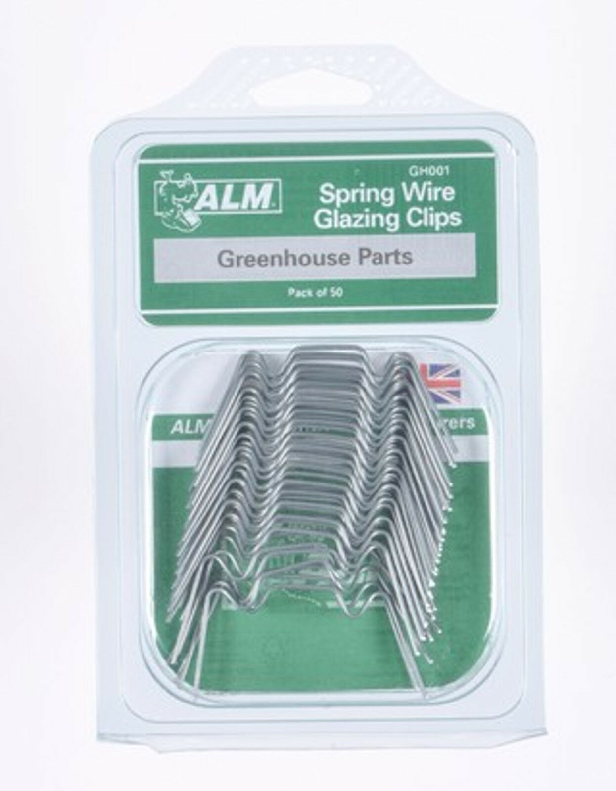 Pack of 50 Greenhouse spring wire W window glazing clips