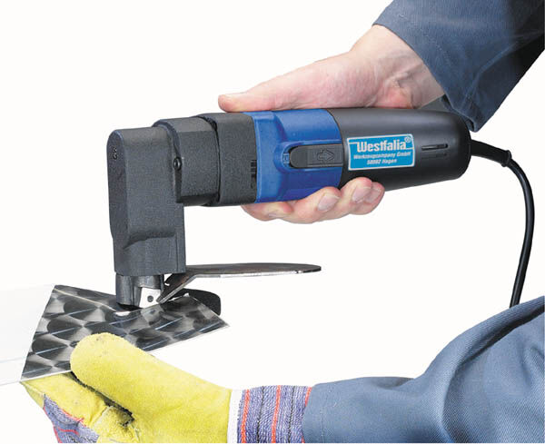 Elektrische Blechschere Elektro Blech Schere 500 W incl. 2 Ersatzmesser