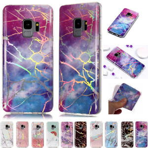 Pattern-Bling-Plating-Marble-Soft-Silicone-Case-Cover-For-Samsung-Galaxy-Phones