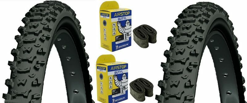 2  Tire Mountain Bike +2 Inner Tube Michelin Country Mud 26 x 2.00 20.8oz New  low price