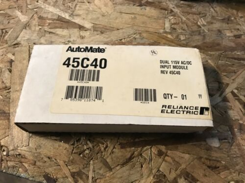 With warranty 115v RELIANCE ELECTRIC-AUTOMATE #45C40