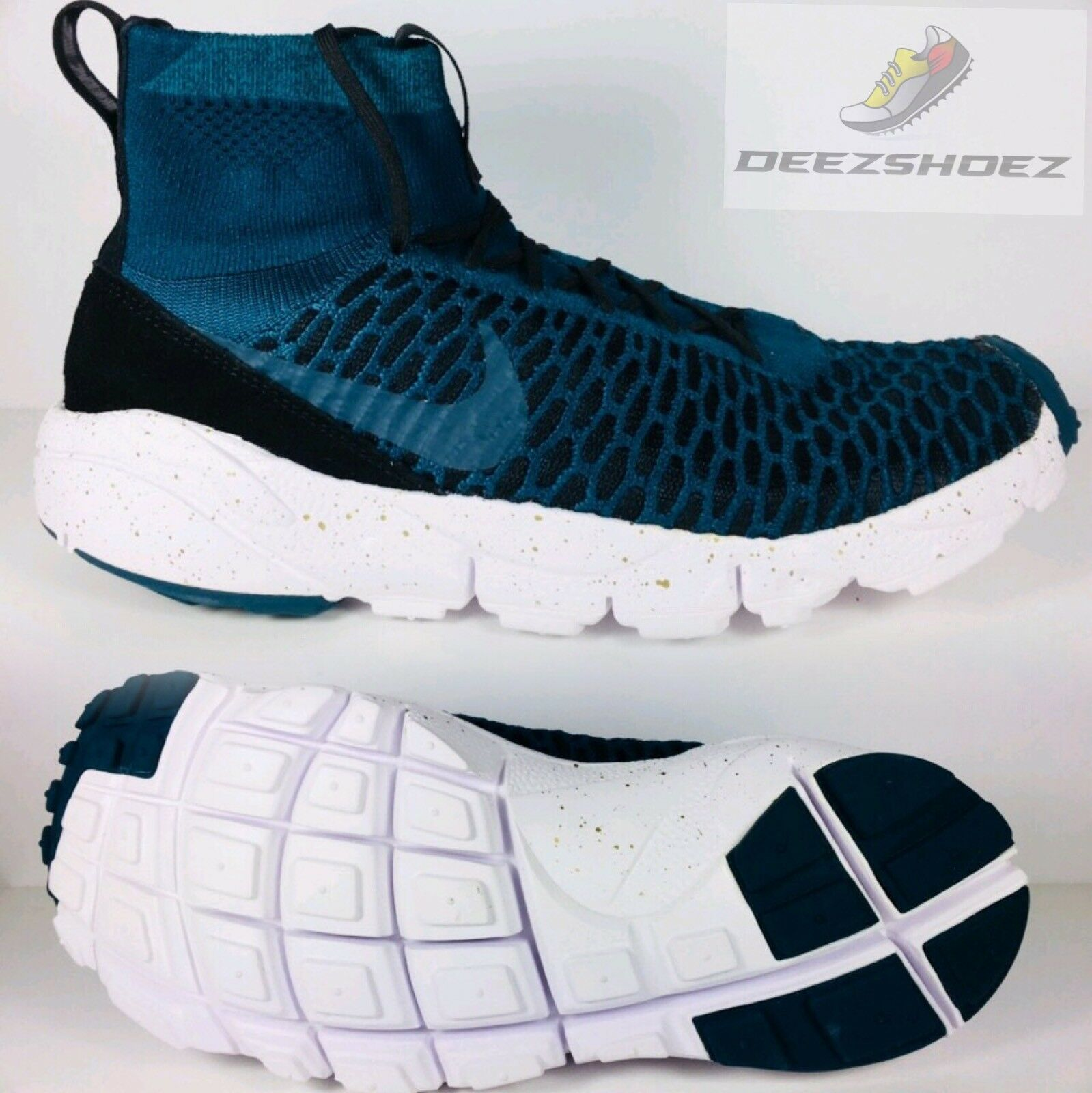 Nike Air FootScape Magista FK FC Turquoise /White Mens US SZ 8.5 Free Shipping
