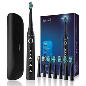 Fairywill D7 Sonic Electric Toothbrush Whitening Power Toothbrush &A Travel Case