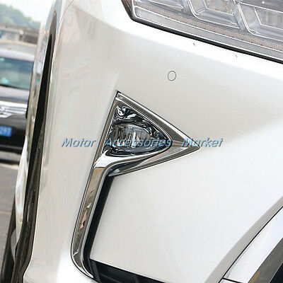Fit  For Lexus RX350 FWD//AWD 2016-2019 Chrome Front Fog Light lamp Cover Trims