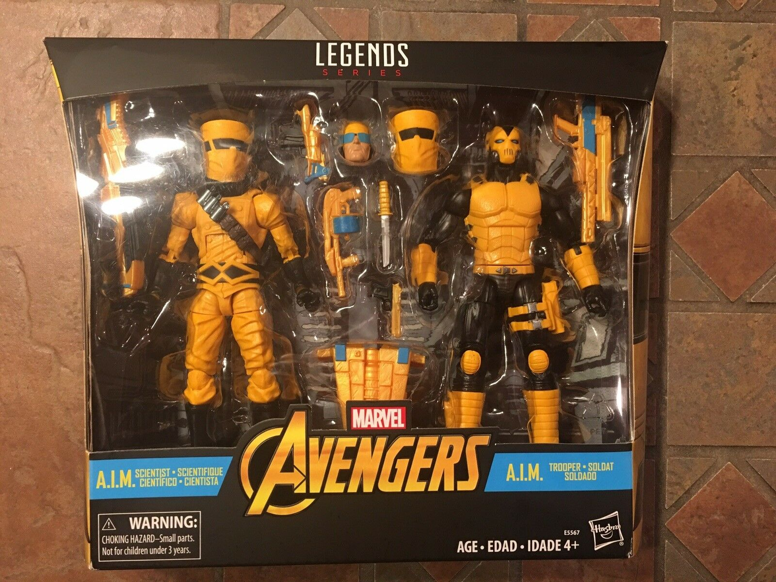 Marvel Leggende A. I.M Scienziato & Aim Trooper Statuetta Due Pezzi Avengers