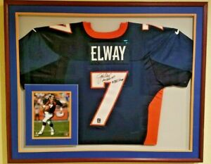 official photos 87a74 00a3d Details about John Elway Game Used Jersey Auto Signed Super Bowl Year 4  COAs - PSA - Grey Flan